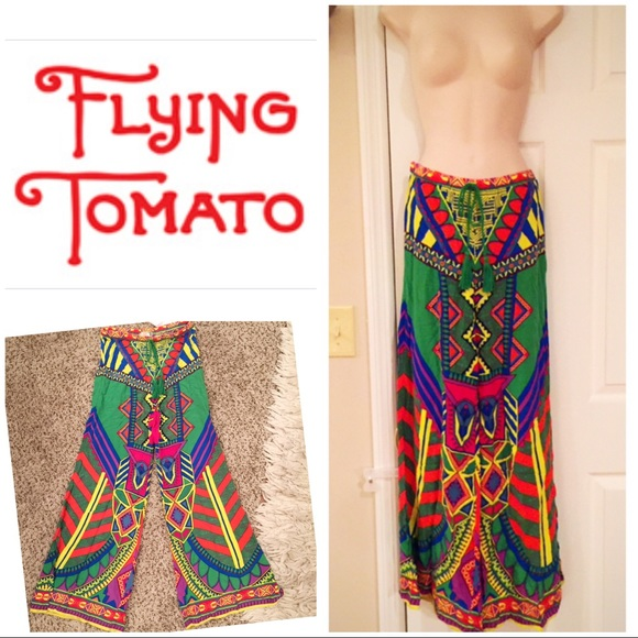 ca8b3ba34e6 Flying Tomato Pants - Flying Tomato multi boho palazzo. Pants